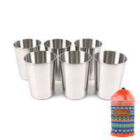 6PCS SET Stainless Steel Outdoor Camping Cup Multifunction Portable Hiking Supplies Coffee Wine Drinking Accessories 10