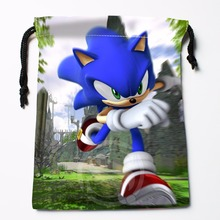 Fl-Q100 New Sonic #1 Custom Printed  receive bag  Bag Compression Type drawstring bags size 18X22cm 711-#Fl100