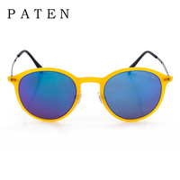 Star Style Chic Round Color Block Sunglasses USA Buy Cheap Light Color Small Glasses Online Full