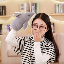 2018 Cute Soft Shark Puppet Plush Doll Kids Toys Childrens Day Gift For Children Carton Figure Feather Cotton Baby