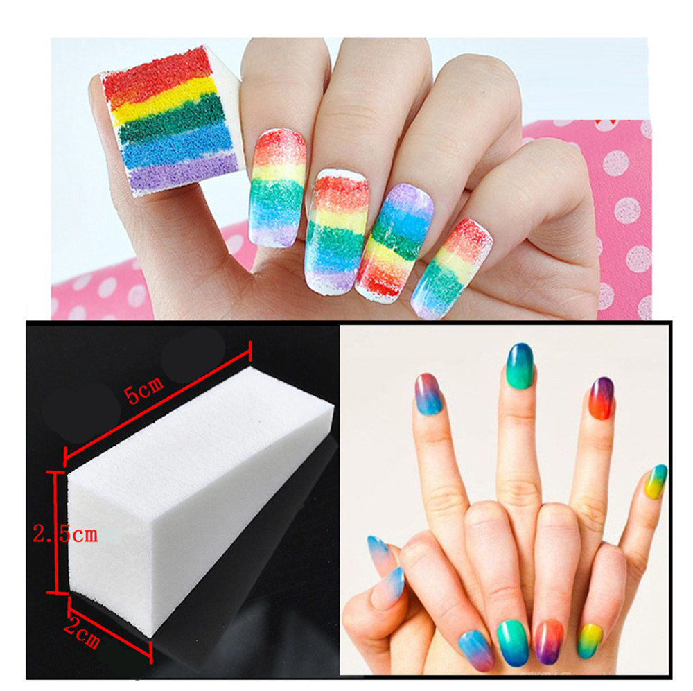 5pcs Nail Art Soft Triangle Grant Sponges For Polish Sting Drawing Transfer Ster White Manicure Uv Gel Women Diy In Files Buffers From