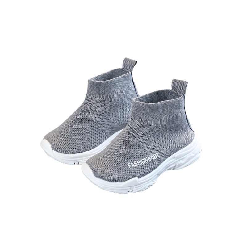 ฤดูใบไม้ผลิเด็กรองเท้าผู้หญิงรองเท้าผ้าใบสำหรับวิ่งชายรองเท้าสบายๆรองเท้ากลางแจ้ง Anti - ลื่น Fly ถักถุงเท้าเด็กรองเท้ารองเท้าผ้าใบ 1-6Y