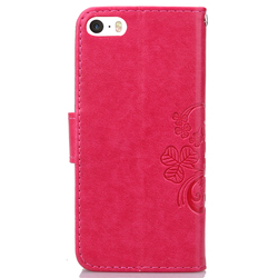 For Flip Wallet Case iPhone 5s Leather Case For iPhone 5 SE Shockproof Soft Silicone Cover Stand Phone Bag For iPhone 5c 4