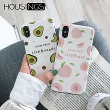 Cute Avocado Peach Case For iPhone 7 8 Plus XR Summer Fruits 6 6s Funny Soft Silicone iphone X Xs Max Lovely Capa