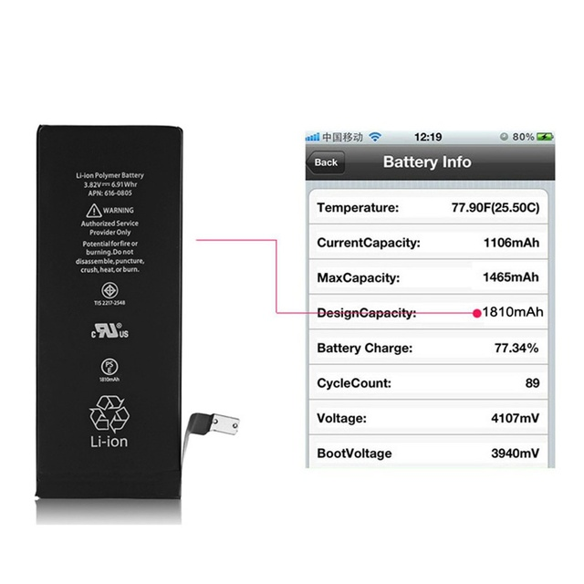 pretty nice 8bf8d fdc5f OEM Battery for Apple iPhone 6 Replacement Brand New Real Capacity ...