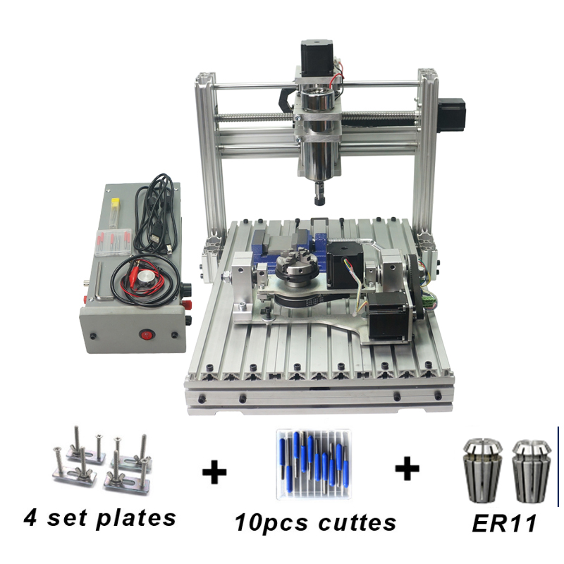 5 Axis CNC 3040 Metal Mini DIY Cnc Engraving Machine ,4 Axis CNC Router,PCB Milling Machine,Engraving Frame 5 axis cnc 3040 metal mini diy cnc engraving machine 4 axis cnc router pcb milling machine engraving frame