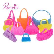 Rosana 10 Pcs Cute Bags for Barbie Doll Dress Up Morden Handbag Shoulderbag Doll Accessories Girls Play House Party Toys