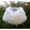 LIYAFUR 2017 Women's Real Genuine Ostrich Fur Wedding Bride Bridesmaid Cape Wraps Shrug Poncho Stole