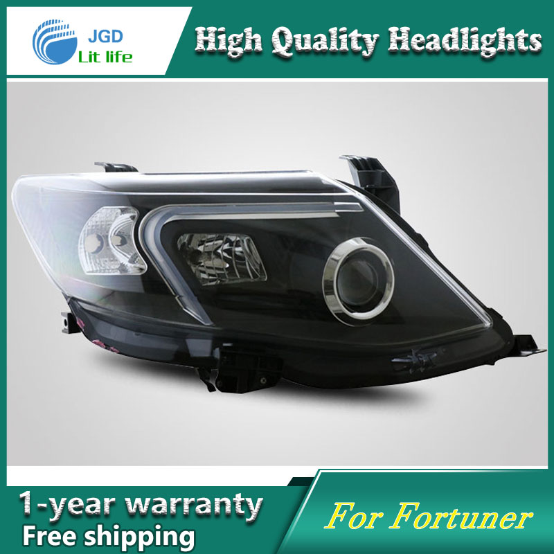 high quality Car styling case for Toyota Fortuner Headlights LED Headlight DRL Lens Double Beam HID Xenon yatour car adapter aux mp3 sd usb music cd changer 6 6pin connector for toyota corolla fj crusier fortuner hiace radios