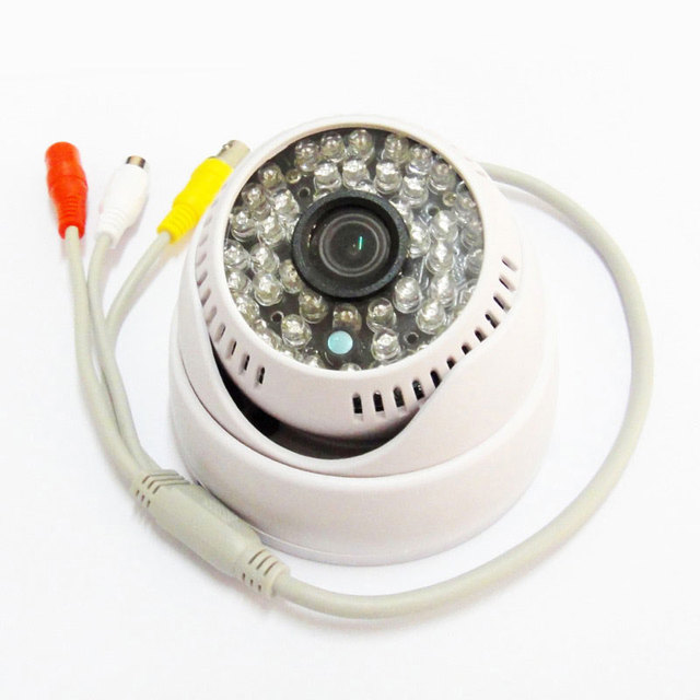 """1/3 """"700TVL 48IR Leds Cor CCTV Dome Porta Grande Angular Câmera com sistema De vigilância de Áudio"""