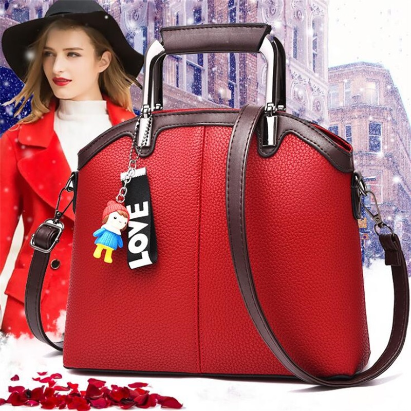 Luxury Women Leather Handbag Women Messenger Bag Female PU Leather Shoulder Bag Women's Handbag Lady crossbody bags sac a main new fashion women chain shoulder bag crossbody bag shiny bling lady clutch purse luxury patent leather female handbag sac a main