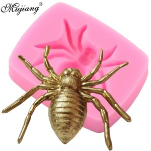 3D Spider Silicone Mold DIY Halloween Party Cake Decorating Tools Cupcake Fondant Chocolate Candy Mould Jewelry Resin Clay Molds