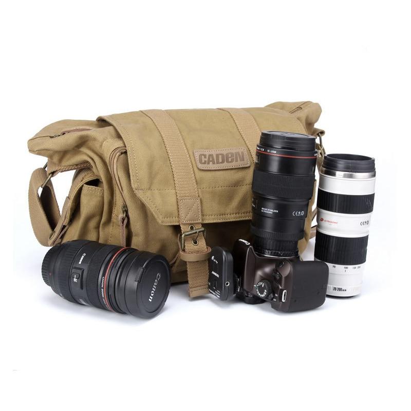 Caden Cámara Honda bolsos de hombro DSLR foto y vídeo de paquete de bolsa de cámara casos de protección para Canon Nikon Sony F1
