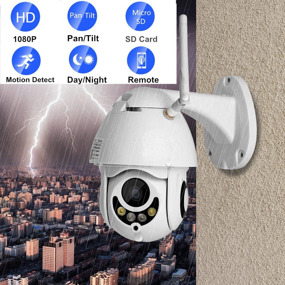 Wifi ip caméra extérieure ptz 1080 P HD 2mp vidéo surveillance cam waterpoof deux voies audio vision nocturne dôme sans fil mini caméras