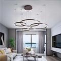 Подвесная Подвесная лампа для гостиной  спальни  кафе  акриловая люстра  светильник