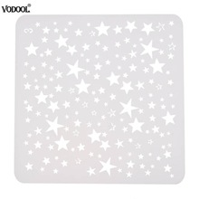 DIY Starry Star Shape Layering Stencils Templat Lukisan untuk Lukisan Scrapbooking / photo Album Embossing Paper Card Crafts
