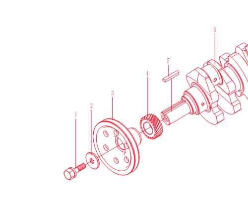 Xinxiang TY290X 295X engine parts for tractor JM254 TY254 etc, the crankshaft gear, part number:TY290X.04.102 jiangdong engine parts for tractor the crankshaft for engine jd490 jd495