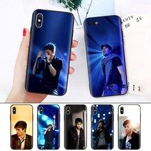 Black Rubber Soft Silicone Case Bag Cover for iPhone XS XR X 7 8 6 6S 5C 5E 5S 5 Plus Max Shell Fundas Coque Enrique Iglesias цена