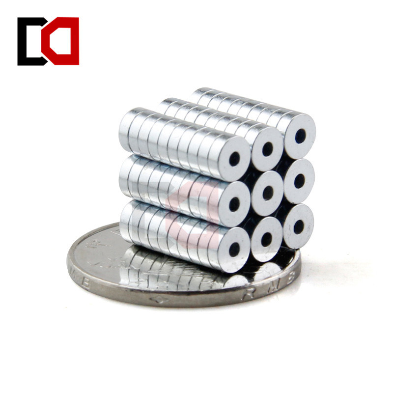 Free shipping wholesale 200pcs Disc 5x1.5mm hole 1.5mm N50 rare earth permanent industrial strong neodymium magnet NdFeB magnets free shipping 44mm 200 sets magnet buttons material