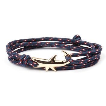 18 Colors Optional Hot Selling Viking Bracelets For Men And Women Silver Shark Multilayer Rope Bracelet Homme Femme Men Jewelry 3