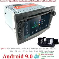 Hizpo Car Multimedia player GPS Android 9.0 2Din For Vauxhall/Opel/Antara/VECTRA/ZAFIRA/Astra H G J Canbus DVD Player Radio DAB+