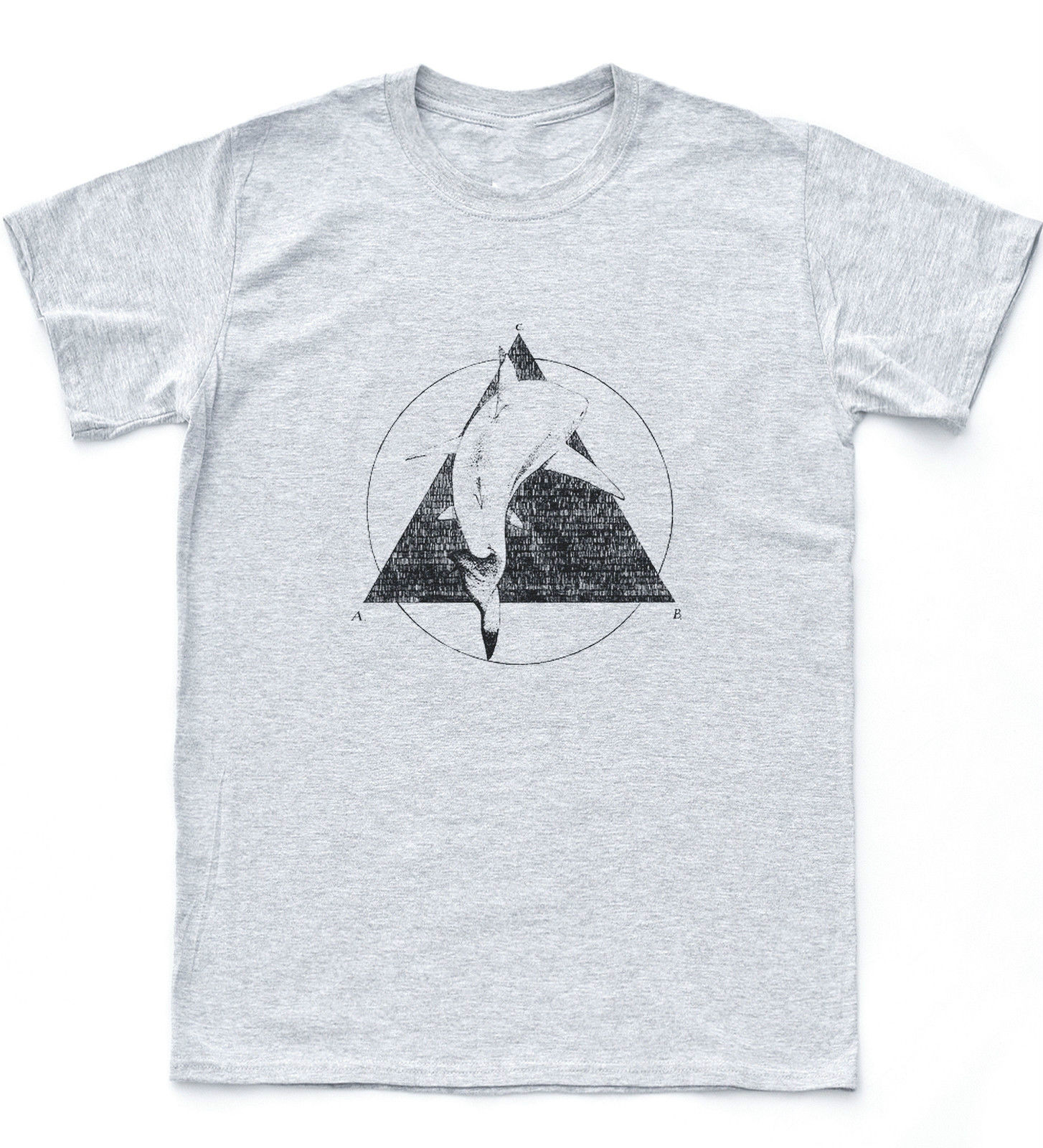 Shark Illuminati Tumblr Geometric Biology T Shirt Nature Triangle