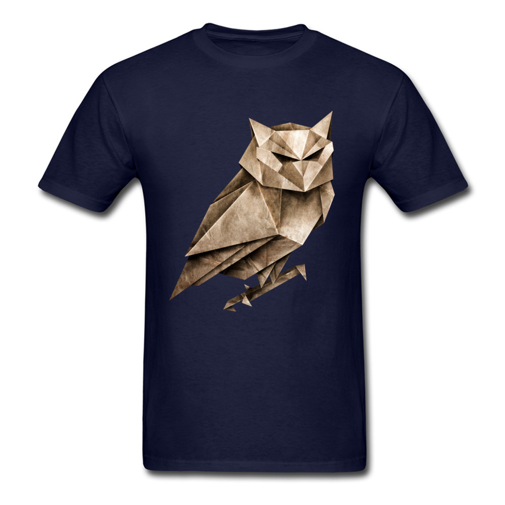 Fitness 3D T-shirt Men Geometry Owl Print T Shirt Fashion Navy Blue Clothes Short Sleeve Tops Tees Cartoon Tshirt Christmas Gift