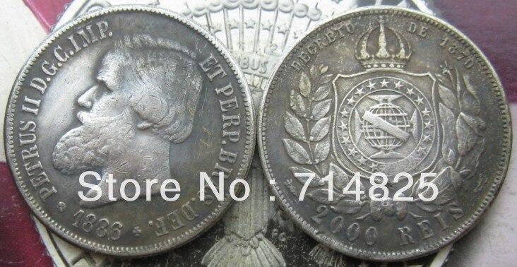 1886 БРАЗИЛИЯ 2000 Reis КОПИЯ