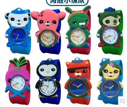 2017 New Kids Slap Watches Children Cartoon Slap Silicone The Octonauts Watches For Kids 1pcs
