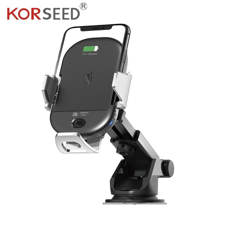 Support de charge sans fil intelligent monté sur véhicule KORSEED support de navigation pour téléphone portable support de capteur infrarouge