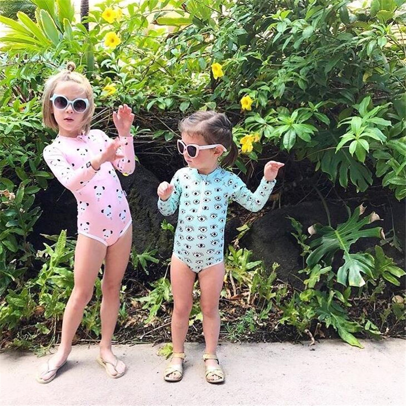 BOBO CHOSES BABY Swimwear 2018 INS summer eye panda icecream boys girls Swimwears Toddler Kids swiming suits biquini infantil