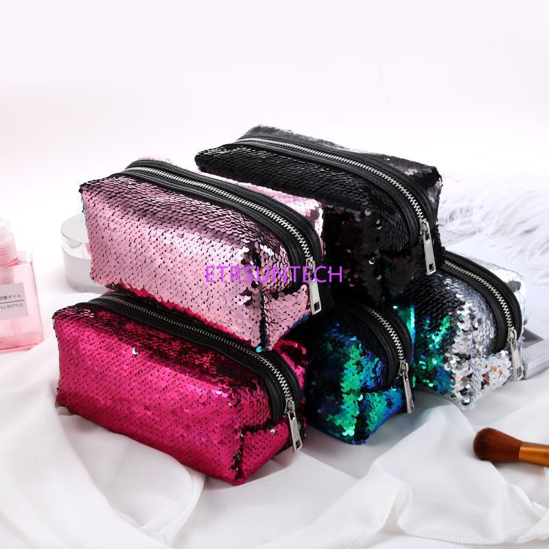 Color Changing Reversible Sequins Mermaid Pencil Bags for Girls DIY Magic Pencil Cases For Children School
