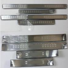 цена на Car Styling for Toyota land cruiser prado  accessories 10-18 auto door sill protector sills scuff plate guard thresholds