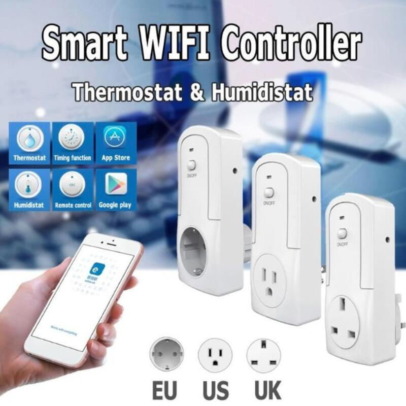 WIFI Wireless Temperature Humidity Thermostat Module APP TS-5000 Smart Remote Control Smart Timing Switch SocketWIFI Wireless Temperature Humidity Thermostat Module APP TS-5000 Smart Remote Control Smart Timing Switch Socket