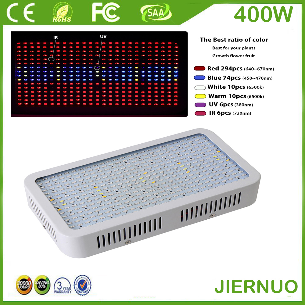 400W LED Grow Light Full Spectrum 400 LED AC85~265V SMD 5730 Red/Blue/White/UV/IR Led Plant Lamps Best For Growing and Flowering full spectrum 1600w led grow light red blue white warm uv ir ac85 265v smd5730 plant lamp for indoor plant growing and flowering