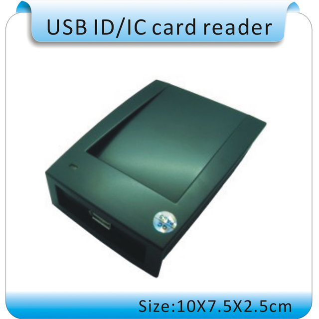 15 format output RFID reader+10pcs  frequency 125KHZ RFID access card, thickness 1.2MM  ( USB port TXT)
