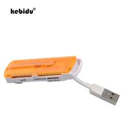 Kebidu USB 2.0 tudo em 1 Multi em um cartão de Memória Multi-Cartão leitor de Mini Micro SD SDHC MS TF SD para laptop notebook tablet pc