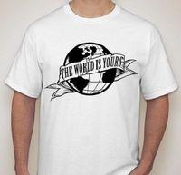 Thế giới là của bạn scarface t shirt tee small-2xl có sẵn chọn màu sắc nam pre-bông clothing 100% cotton trắng phong cách