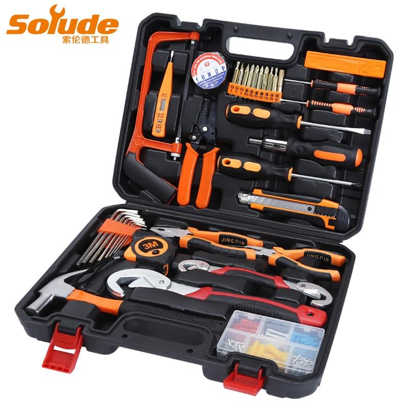 37 pcs/38 pcs Accueil Cadeaux Matériel Kit Outils Électricien Réparation Boîte À Outils Multi-fonction Combinaison Set Outil