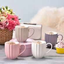 Elegante krone muster keramik becher Schöne keramik kaffee tasse schwarzen tee tasse