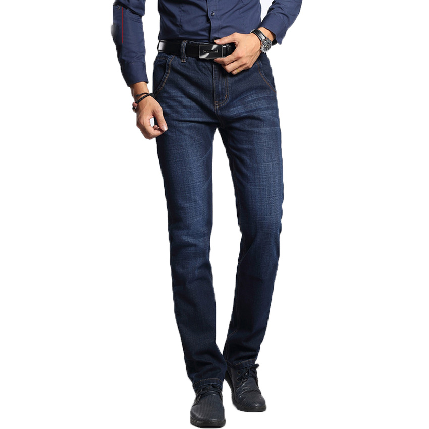 New Arrival Men Jeans Autumn Spring Casual Jean Clothes Fashion Brand Full Length Slim Fit High Quality Jeans Stright Pants 56wy  black navy m xxl quality 2017 spring new arrival ripped jeans for men fashion brand men jeans slim fit jeans men jx01