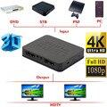 Durável Ultra HD 4 K Splitter HDMI 1X2 2 Port Hub Amplificador Repetidor 3D 1080 p 1 Em 2 Fora