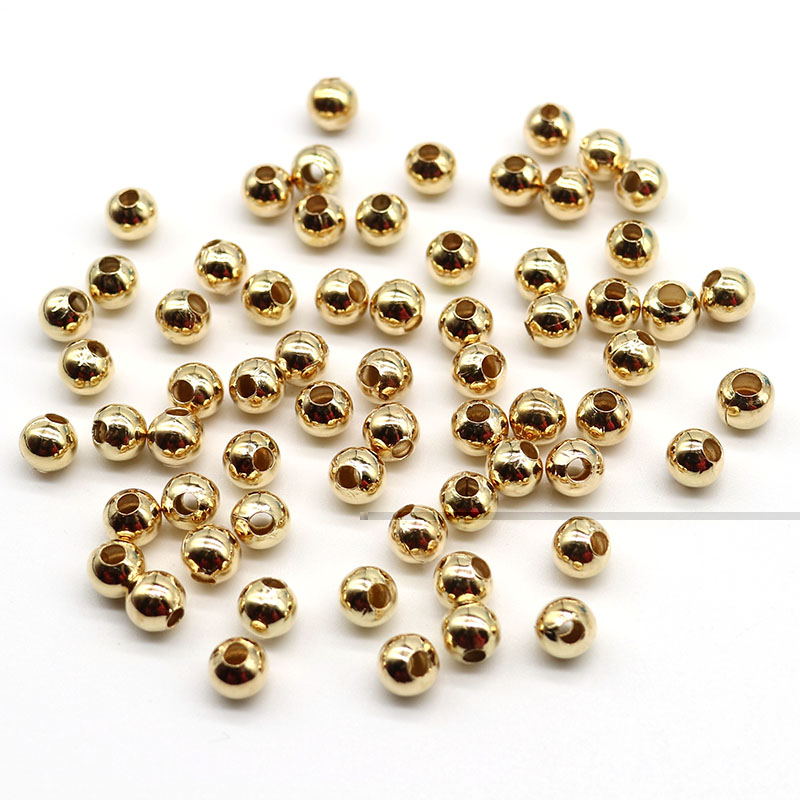 200± Alloy Spacer Beads Pumpkin Round Ball Gold//Silver DIY Jewelry Making 4mm