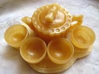 Natural Topaz bamboo wine glass jade teapot teacup small ornaments gift tea health marketing
