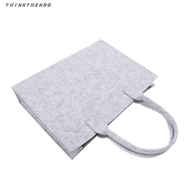 Thinkthendo unisex feminino portátil sentiu moda bolsa tote casual grande capacidade de armazenamento organizador bolsa de ombro novo 3