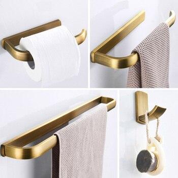 Bronze Bathroom Accessories Sets Antique Brass Toilet Paper Holder Bathroom  Hardware Towel Bar Towels Ring Robe Coat Key Holder