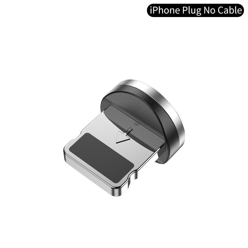 YKZ Магнитный USB кабель для huawei samsung type C type-C зарядный USB C Магнитный кабель Micro USB шнур для мобильного телефона для iPhone - Цвет: IOS plus NO cable