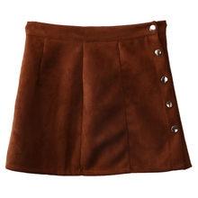 Nueva moda faldas mujeres Otoño Invierno PU cuero de alta cintura Slim  Casual partido lápiz falda dde18b22569a