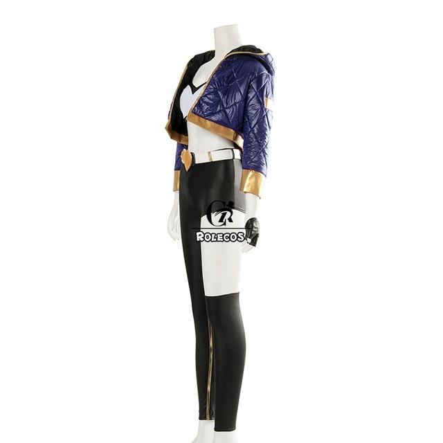 ROLECOS Game LOL K/DA Akali Cosplay Costume LOL KDA Akali Cosplay Costume Winter Uniform Costume for Women Full Set  1