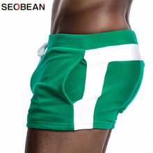 SEOBEAN Men Homewear Shorts Sexy Low Waist Cotton Super Soft Comfortab